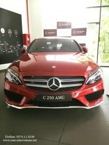 Mercedes C300 AMG đỏ (1)