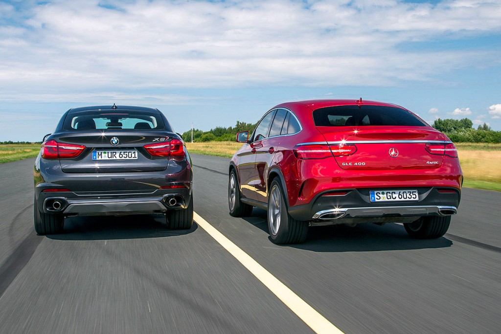 Mercedes GLE Coupe 2018 2019 va BMW X6 2018 2019 (1)