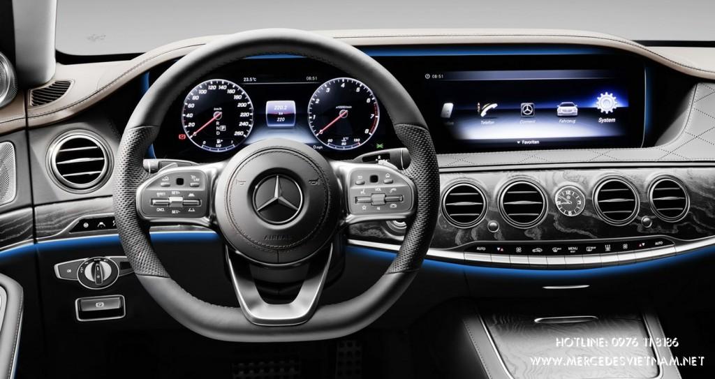 Mercedes S-Class 2018 NeW ra mắt, trang bị động cơ mới