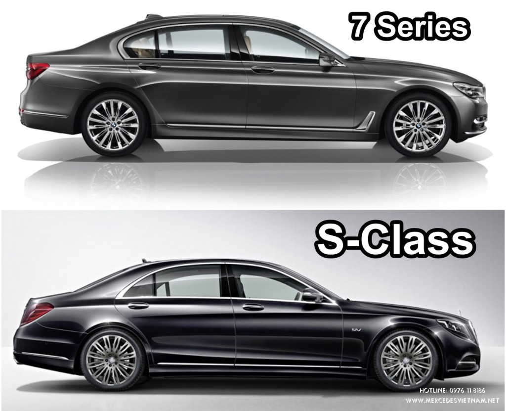 s kh c bi t gi a 2 d ng xe mercedes s class 2018 v bmw 7 series 2018. Black Bedroom Furniture Sets. Home Design Ideas