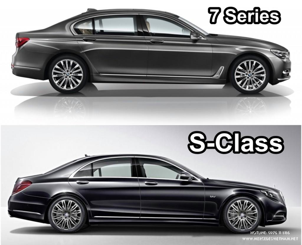 Mercedes S-Class 2018 và BMW 7 Series 2018
